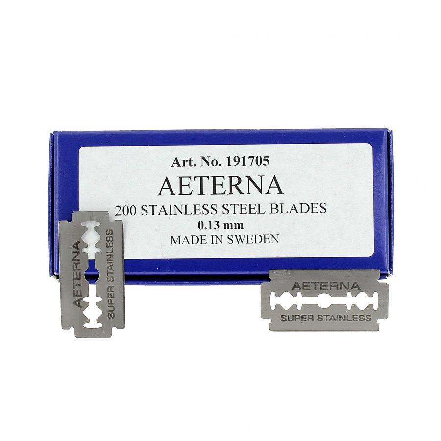 Lame Aeterna intere mm.0,13 scatola da 200 lamette