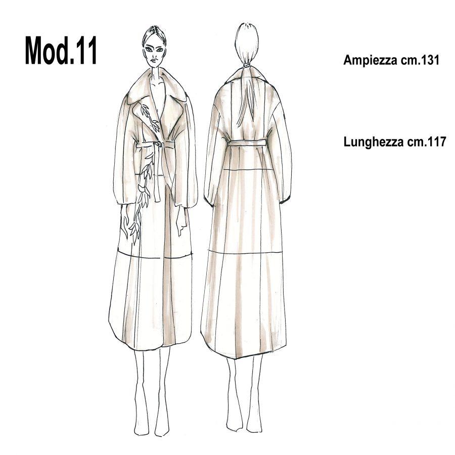 Cartamodello per pellicce mod.11