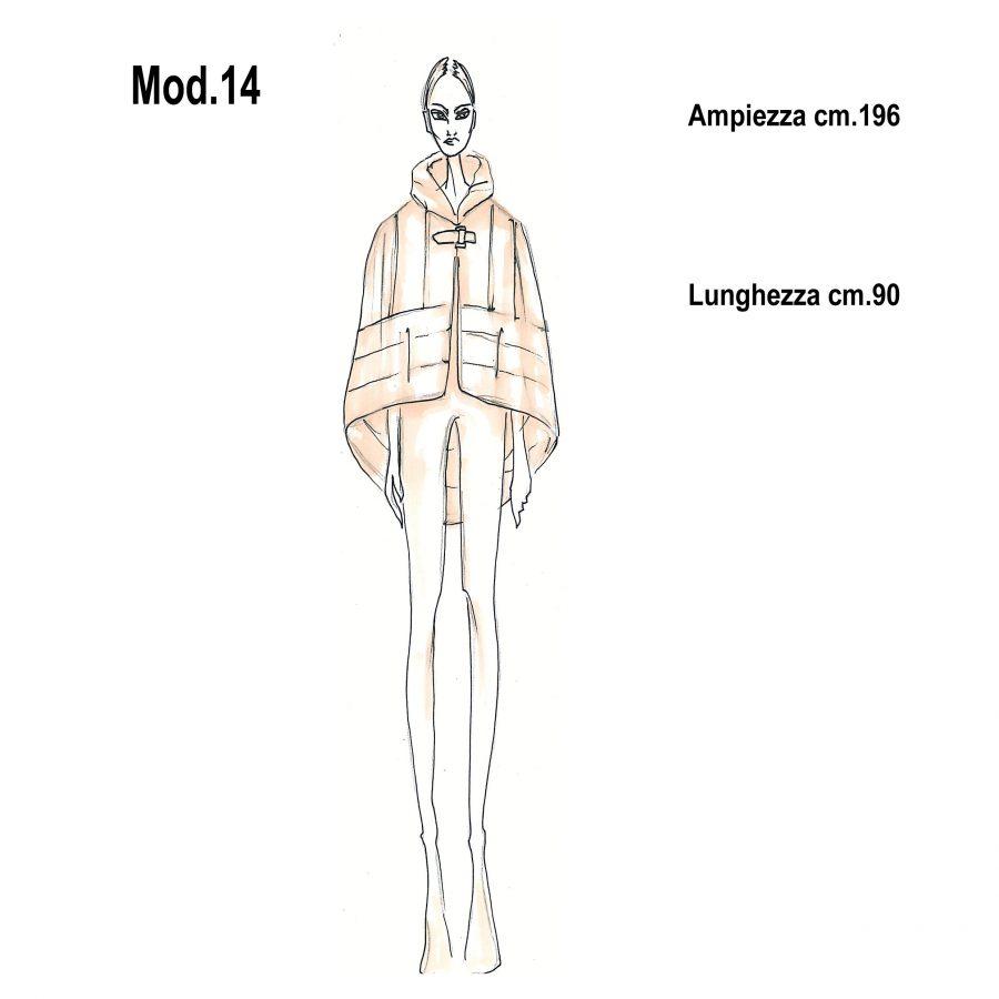 Cartamodello per pellicce mod.14