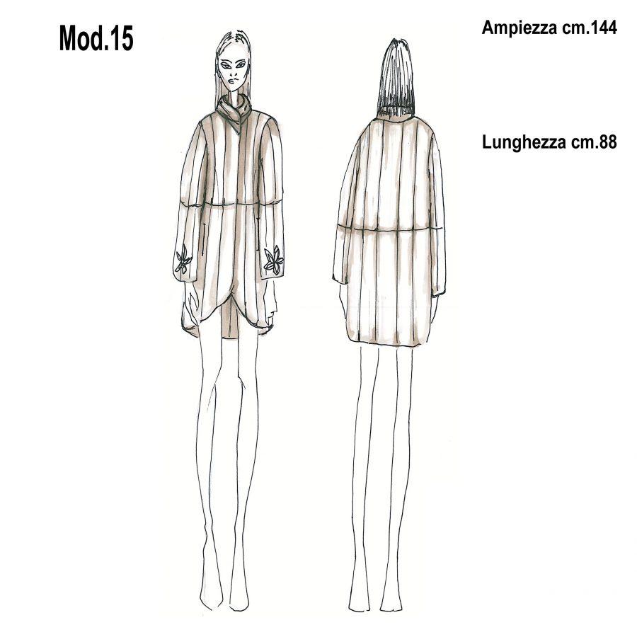 Cartamodello per pellicce mod.15