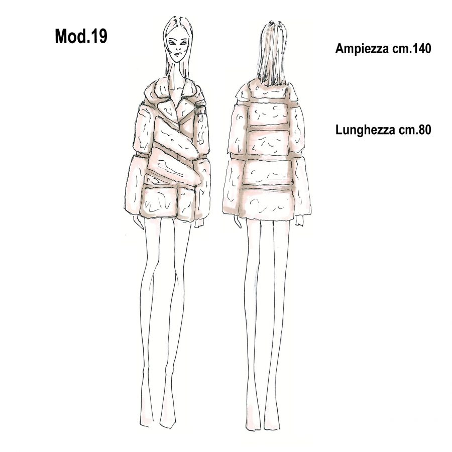 Cartamodello per pellicce mod.19