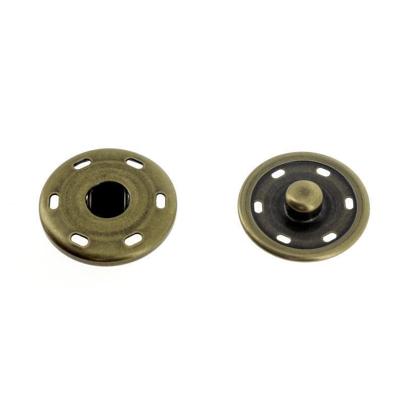 Bottoni a Pressione in Metallo Mod.3053X Ottone Vecchio Lin.40-48-54