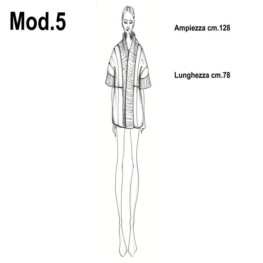 Cartamodello per pellicce mod.5