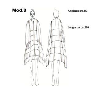 Cartamodello per pellicce mod.8