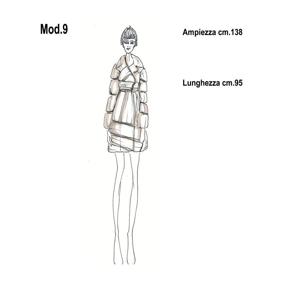 Cartamodello per pellicce mod.9