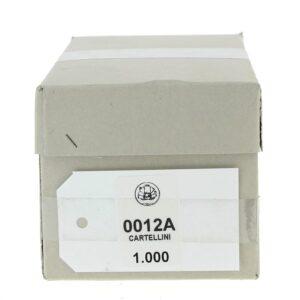 Cartellini bianchi 12A cm. 4,5 x 7,7