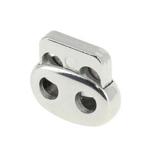 Fermacoulisse Metallo 2 fori Mod. F139M Nikel