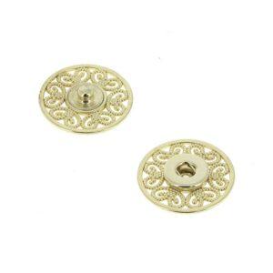 Bottoni Automatici in metallo Mod.53823 Oro Eco Free lin.36 e 44