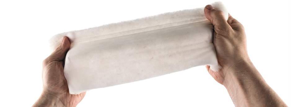 tessuto in piuma d'oca